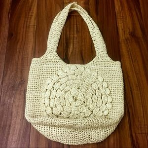 Forever 21 Straw Wicker Beach Tote and Wristlet